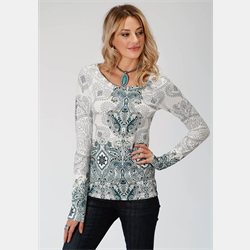 Roper Ladies Multi Colour Knit Sweater Top