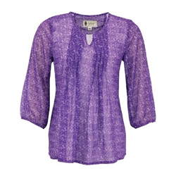 Outback Anna Purple Chiffon Blouse