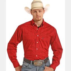 Panhandle Tuf Cooper Red Paisley Western Shirt