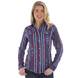Wrangler® Western Shirt with Aztec Print