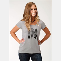 Roper Terry Grey Feather T-Shirt
