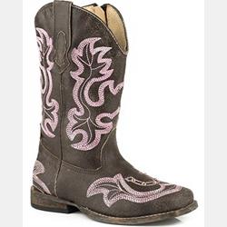 Roper Girl's Caroline Brown Rhinestone Cowgirl Boots