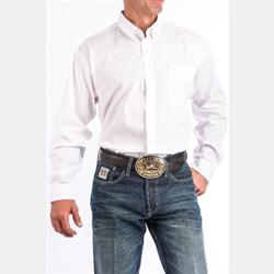 Cinch Men's Button Down Solid White Western Shirt