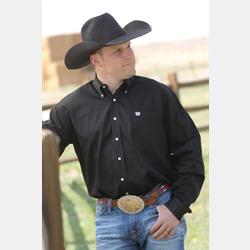 Cinch Men's Solid Black Western Shirt