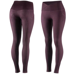 Horze Ladies Leigh Silicone Full Seat Tights With Ergonomic Waist Phone Pocket D