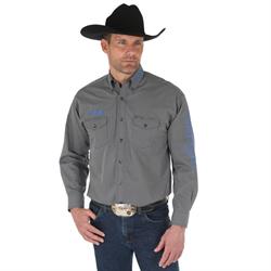 Wrangler® Logo Long Sleeve Shirt Black Print