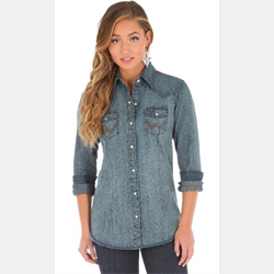 Wrangler Women's Vintage Denim Shirt