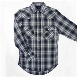 Wrangler® Advanced Comfort Workshirt Grey Plaid