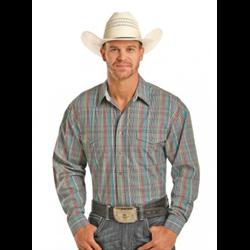 Panhandle Slim Men's Multi Colour Plaid Western Shirt