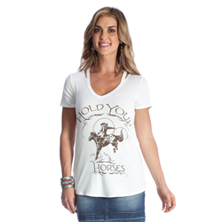 "Wrangler Women's ""Hold Your Horses"" Graphic Tee"