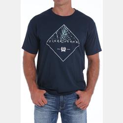 Cinch Classic Crew Navy Logo T Shirt