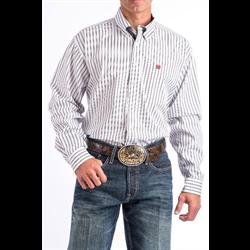 Cinch Men's White Black Striped Western Shirt