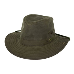 WW/HAT/OUTBACK/1497-SAG/SZ L RIVER GUIDE OILSKIN