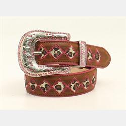 Blazen Roxy Girls Glitter Leopard Print Belt