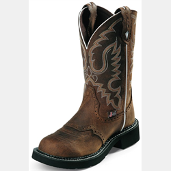 Justin Womens Gypsy Inji Aged Bark Round Toe Boots