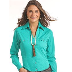Panhandle Women's Turquoise Western Shirt