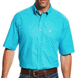 Ariat Men's Longhorn Print Short Sleeve Shirt