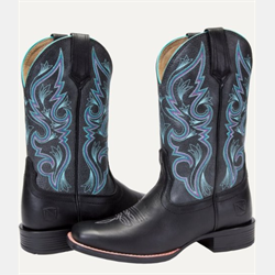 WW/BOOTS/NOBLE/66032-019-10/LDS/ALL AROUND SQ TOE BLK/TQ