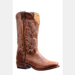 Boulet Men's Cutter Toe Bison Vintage Rust Western Boot