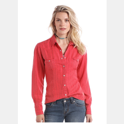 Panhandle Ladies Red Snap Front Western Shirt