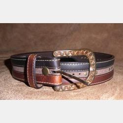 Vintage Bison Men's Rowan Saddle Chocolate Leather Belt