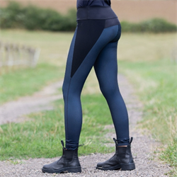 Horze Ladies Beth Compression Silicone Full Seat Tights Navy