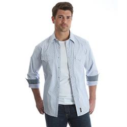 Wrangler Men's Retro Overprint Stripe Snap Western Shirt