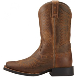 Ariat Kids Honor Distressed Brown Western Boot