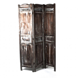 GIFT/WOODEN SCREEN/FORPOST/NT7429/ANTIQUE WASHED GREY