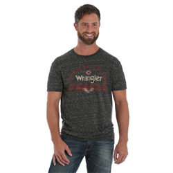 Wrangler Black Snow Heather American Denim Logo T Shirt