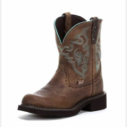 Justin Ladies Gypsy Gemma Brown Short Boots