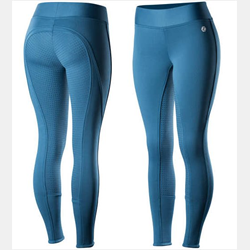 Horze Active Women's Silicone FS Tights Teal Blue