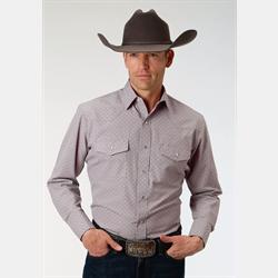 Roper Western Snap Shirt Two Tone Paisley Print