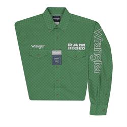 Wrangler Mens Ram Rodeo Green Shirt