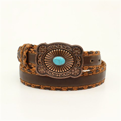 Ariat Ladies Leather Turquoise Brown Belt