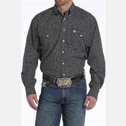 Cinch Black White Club Geo Print Western Shirt