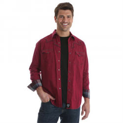 Rock 47® By Wrangler® Red Western Shirt