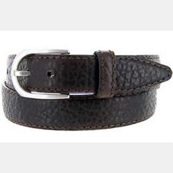 Vintage Bison Men's Leather Belt Loretto Black