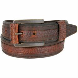 Lejon Men's Chippewa Genuine Bison Brown Leather Belt