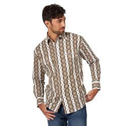 Wrangler Men's  Checotah Tan Brown Western Shirt