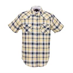 Outback Men's Carlton Short SleeveYellow Plaid Shirt
