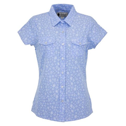 Outback Jillian Blue Floral Performance Shirt