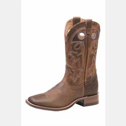 Boulet Ladies Square Toe Purple Stitching Cowboy Boot