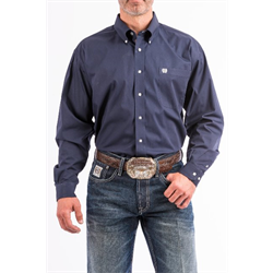 Cinch Men's Cotton Western Shirt Navy