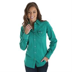 Wrangler® Western Green Fashion Top