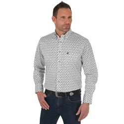Wrangler® Performance Shirt Brown Blue Paisley