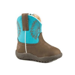 Roper Infant Big Chief Brown Boots