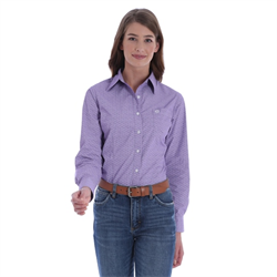 Wrangler George Strait Ladies Purple Hexagonal Shirt