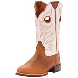 Ariat Women's Round Up Stockman Peanut Brown Western Boot