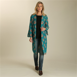 Wrangler® Western Duster with Native American Chief Print